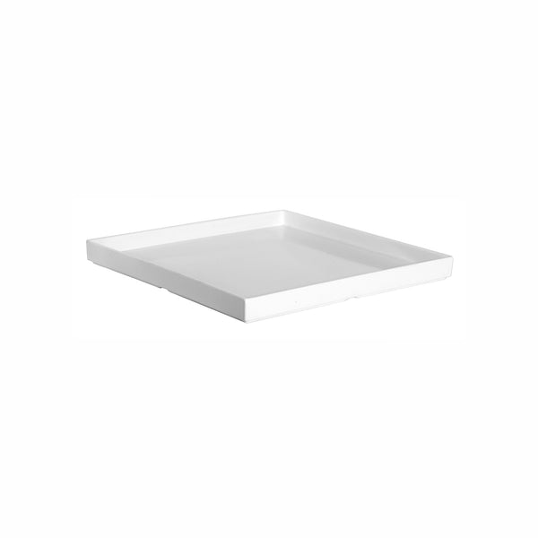 REGENT MELAMINE TRAY SQUARE WITH RIM WHITE, (325X325X30MM)