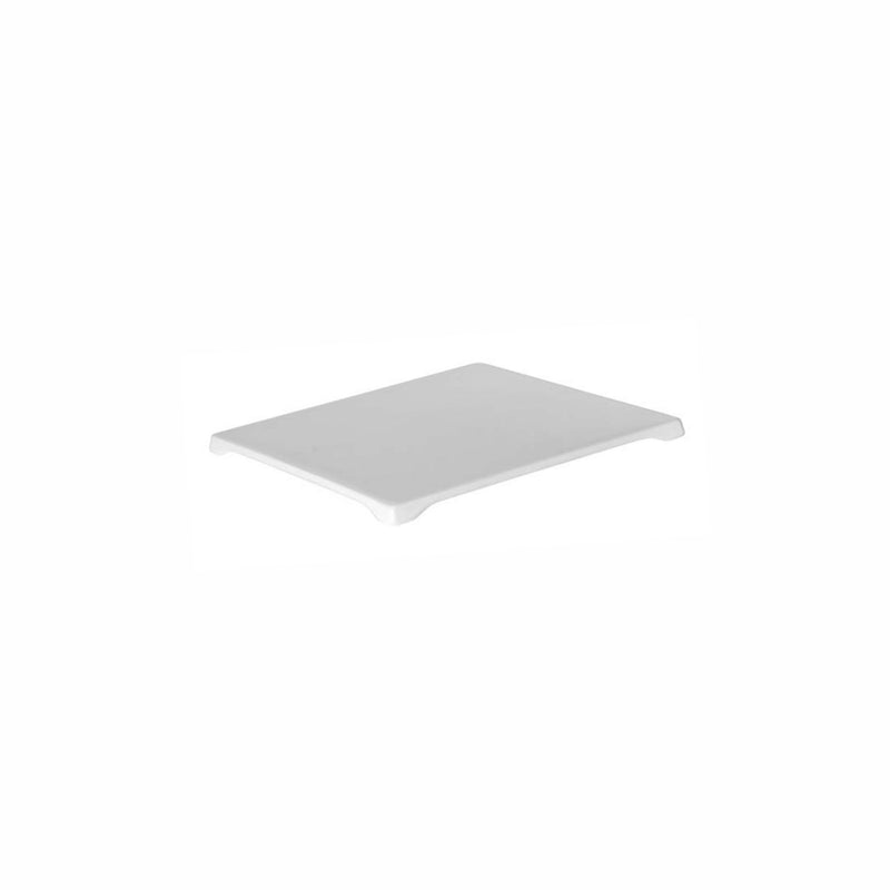 REGENT MELAMINE SERVING FLAT PLATE SQUARE WHITE (252X252X15MM)