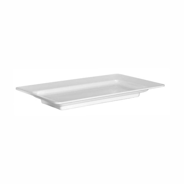 REGENT MELAMINE SERVING PLATTER RECT. WHITE, (559X324X58MM)