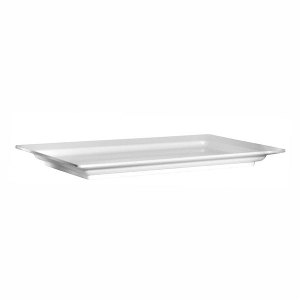 REGENT MELAMINE LONG SERVING PLATTER RECT. WHITE, (710X405X55MM)