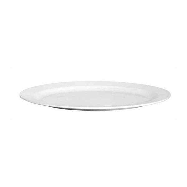 REGENT MELAMINE SERVING PLATTER OVAL WHITE, (403X298X25MM)