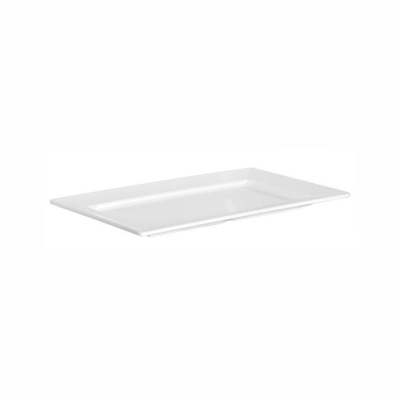 REGENT MELAMINE SERVING PLATTER RECT. WHITE (347X208X26MM)