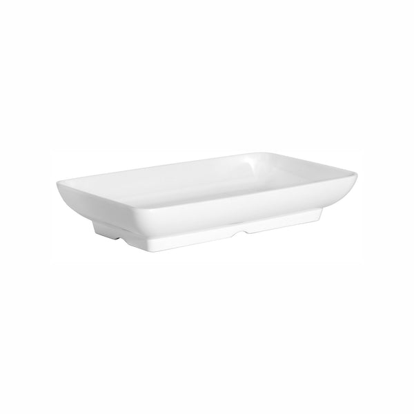 REGENT MELAMINE DEEP SERVING BOWL RECT. WHITE, (370X217X67MM)