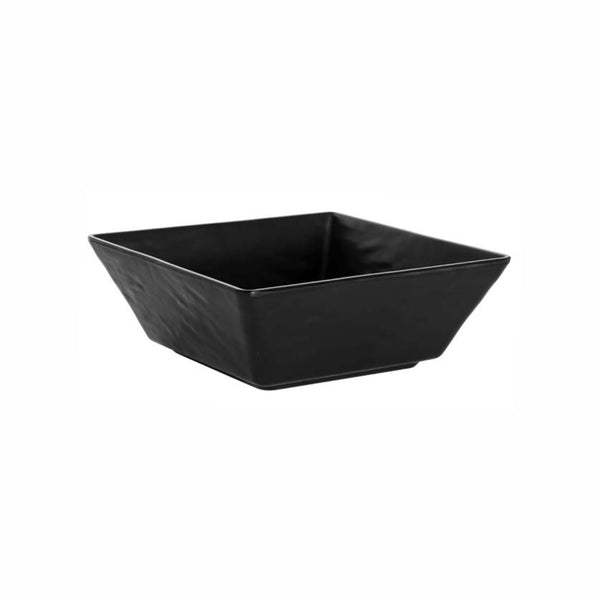 REGENT MELAMINE SERVING BOWL TAPERED RIPPLE SQUARE BLACK, (305X305X114MM)