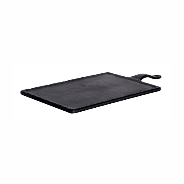 REGENT MELAMINE PADDLE SERVING BOARD RECT. BLACK, (445X220X25MM)