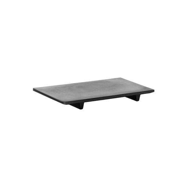 REGENT MELAMINE SUSHI SERVING PLATE MATT BLACK SLATE, (236X138X23MM)