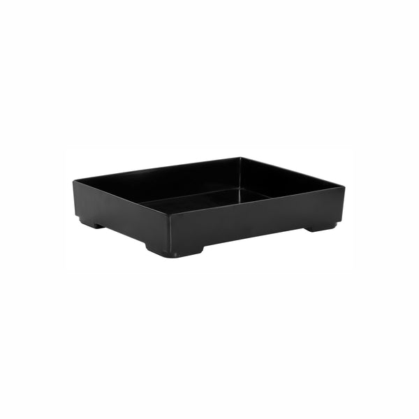 REGENT MELAMINE SERVING BOX BLACK, (293X230X58MM)