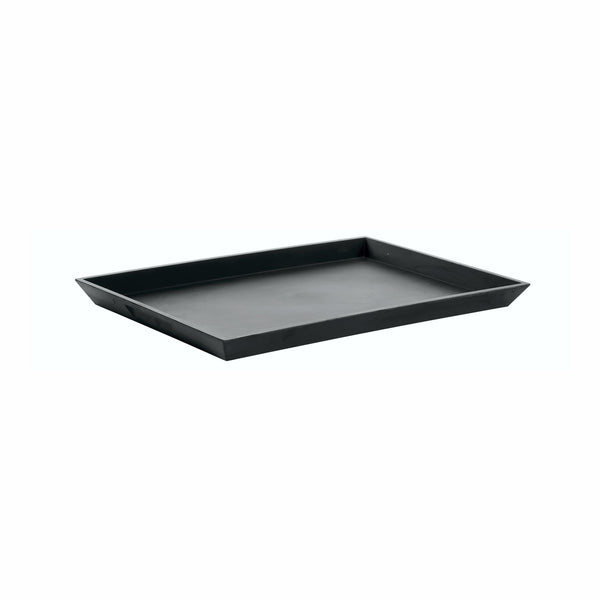 REGENT MELAMINE SERVING TRAY MATT BLACK, (405X278X29MM)