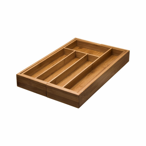REGENT BAMBOO EXPANDABLE CUTLERY TRAY (255/390X355X50MM)