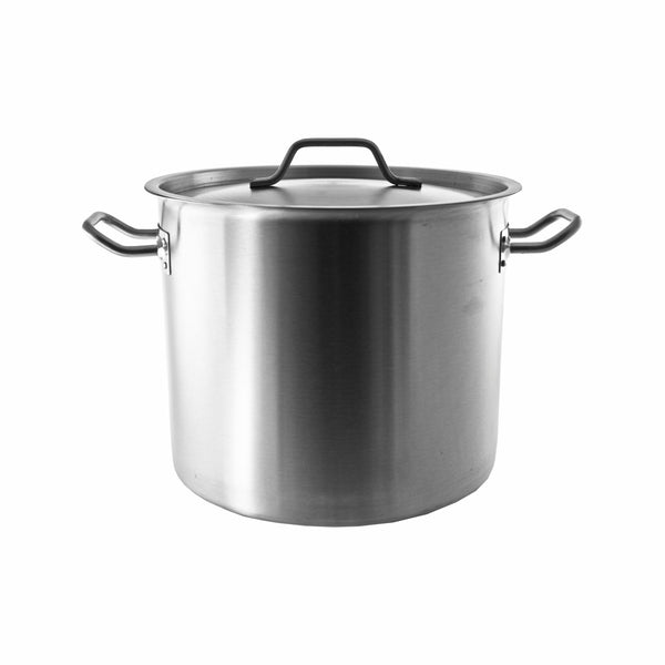 REGENT COOKWARE STOCK POT WITH RIVETED HANDLES S/STEEL 17L (295MM:DX250MM)