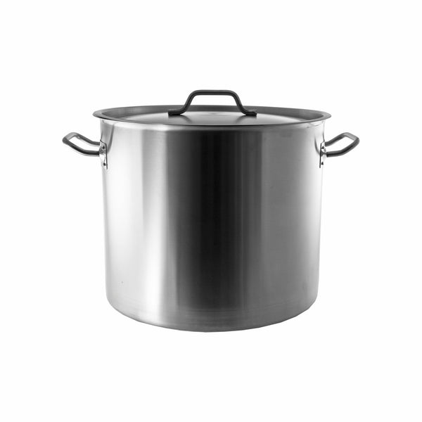 REGENT COOKWARE STOCK POT WITH RIVETED HANDLES S/STEEL 21.2L (300MM:DX300MM)