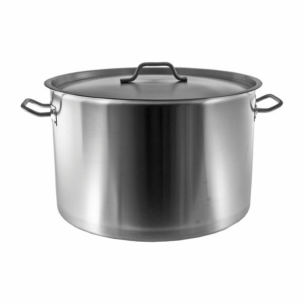 REGENT COOKWARE STOCK POT WITH RIVETED HANDLES S/STEEL 30L (360MM:DX300MM)