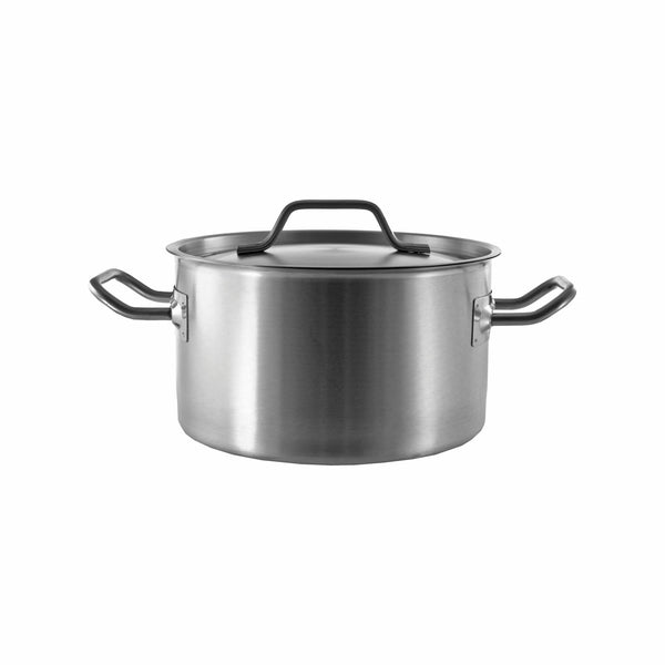 REGENT COOKWARE CASSEROLE WITH WELDED HANDLES S/STEEL 6.3L (240MM:DX140MM)