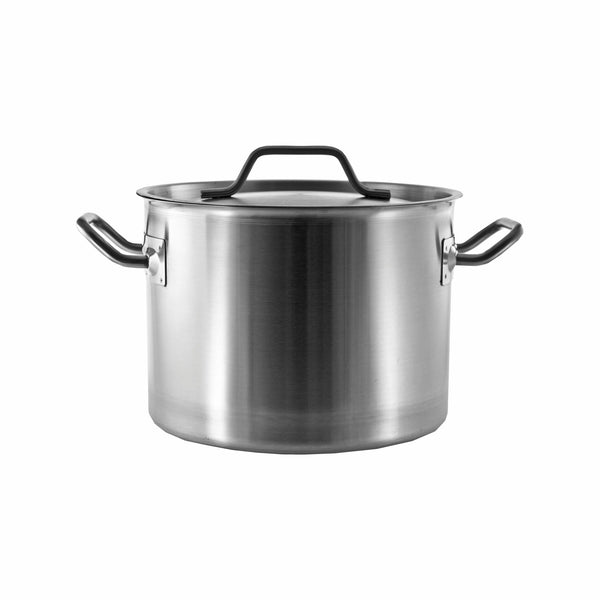 REGENT COOKWARE CASSEROLE WITH WELDED HANDLES S/STEEL 8L (240MM:DX180MM:H)