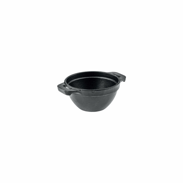 REGENT COOKWARE CAST IRON POT WITH BLACK ENAMEL COATING (133MM:DX65MM)