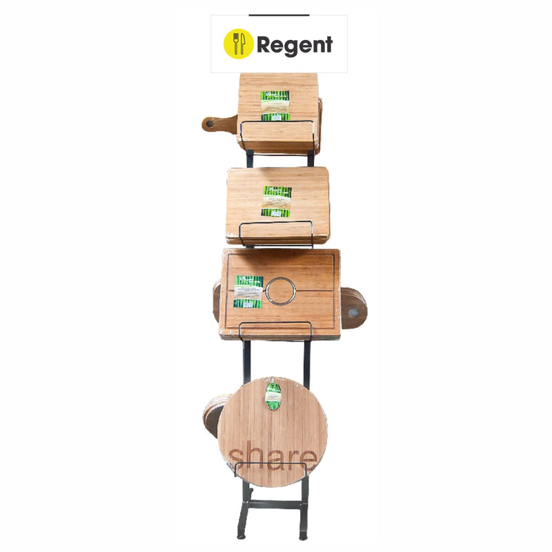 DISPLAY STAND 4 TIER DOUBLE SIDED FOR BAMBOO BOARDS