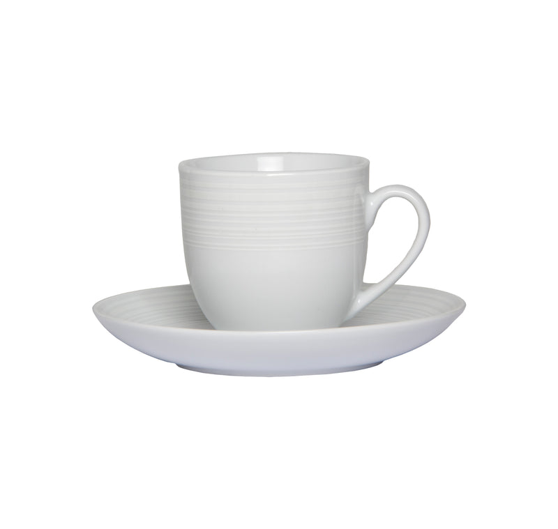 REGENT NORDIC WHITE CUP & SAUCER SET (190ML)
