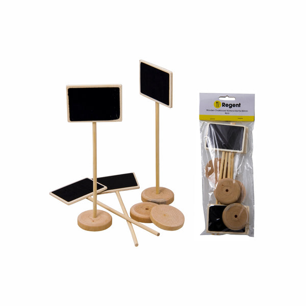 REGENT WOODEN TABLE CHALKBOARD STANDS 4PCS (50X70X180MM)