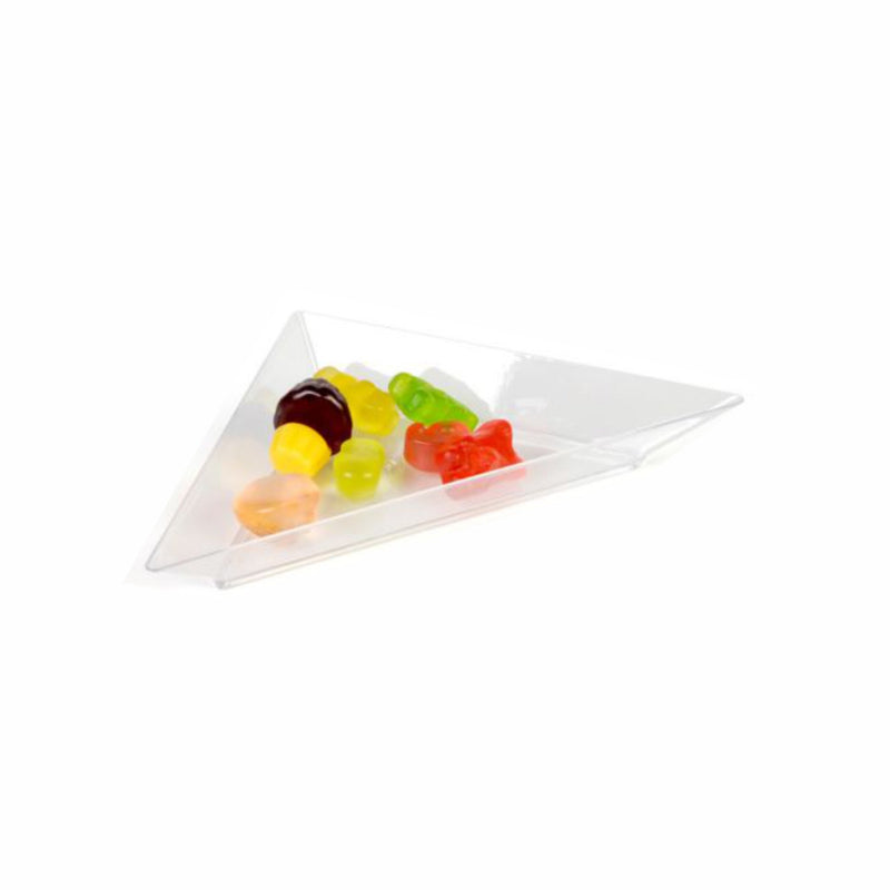 REGENT DISPOSABLE MINI PLASTIC CLEAR TRIANGLE PLATE 24PC 156X82MM