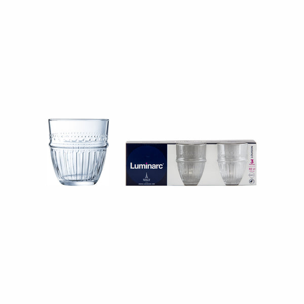 LUMINARC LOUISON OLD FASHIONED TEMPERED TUMBLER, 3 PACK (300ML)