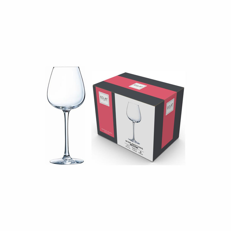 ECLAT WINE EMOTIONS STEM WINE GLASS, 6 PACK (350ML)