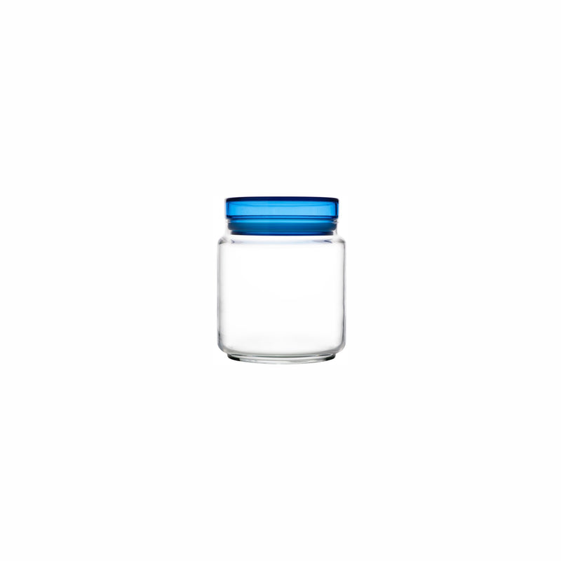 LUMINARC COLORLICIOUS JAR WITH BLUE LID (750ML)