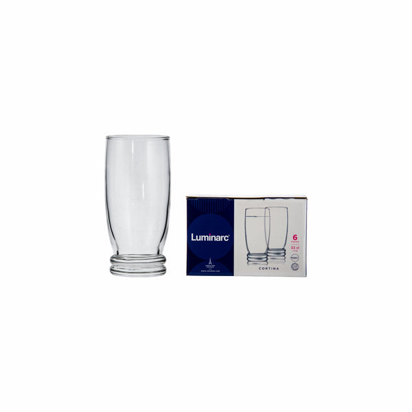 LUMINARC CORTINA HIGH BALL TUMBLER, 6 PACK (330ML)