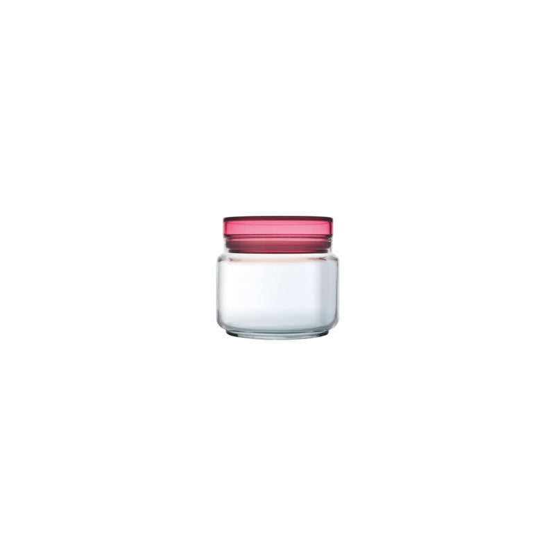 LUMINARC COLORLICIOUS JAR WITH PINK LID, (500ML)
