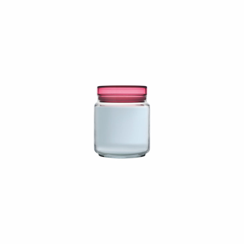 LUMINARC COLORLICIOUS JAR WITH PINK LID (750ML)