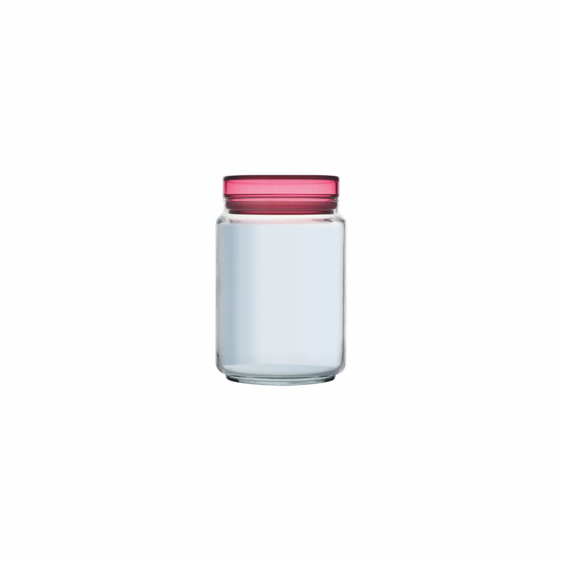 LUMINARC COLORLICIOUS JAR WITH PINK LID (1L)