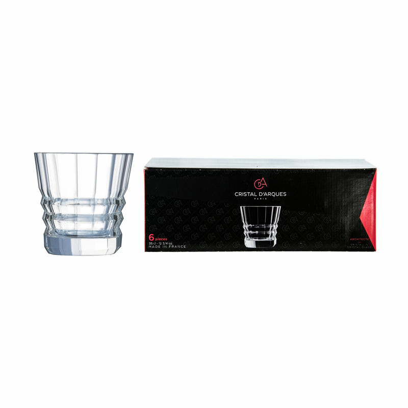 CRISTAL DARQUES ARCHITECTE OLD FASHIONED TUMBLER, 6 PACK (380ML)