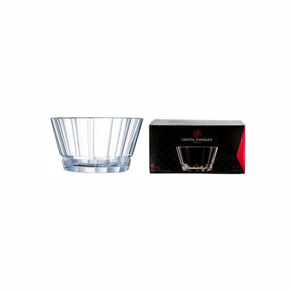 CRISTAL DARQUES MACASSAR SMALL BOWL, 6 PACK (390ML) (120MM:DIAX68.5MM:H)