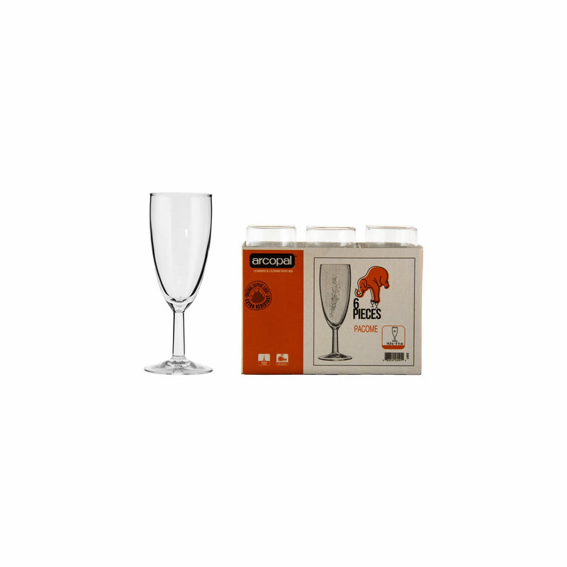 ARCOPAL PACOME CHAMPAGNE FLUTE, 6 PACK (145ML)