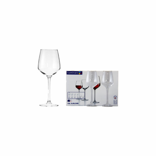 LUMINARC VAL SUR LOIRE STEMMED WINE GLASS, 3 PACK (310ML)