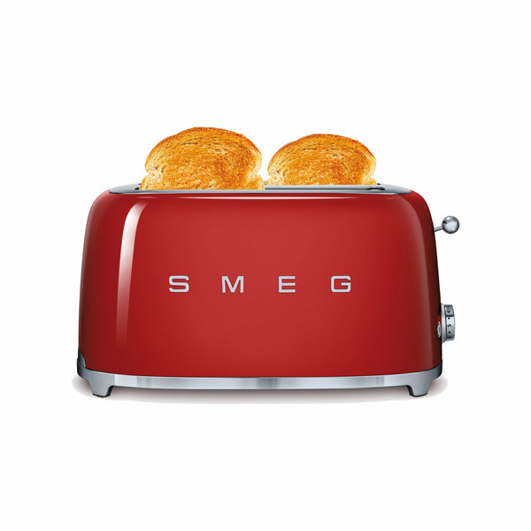 SMEG 50S RETRO STYLE FIERY RED 4-SLICE TOASTER