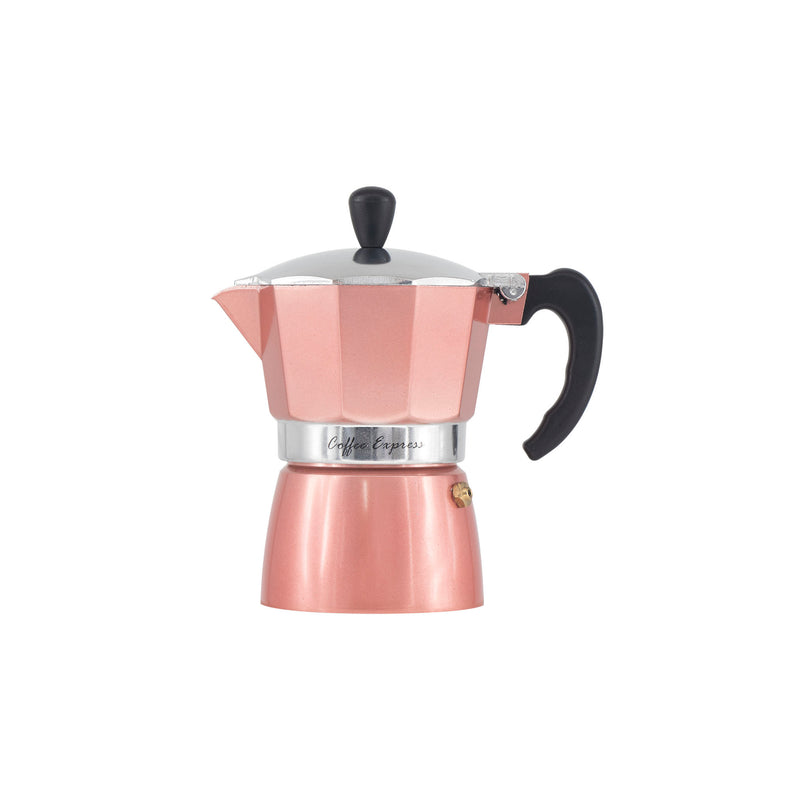 REGENT COFFEE MAKER ALUMINIUM 2 TONE ROSE GOLD & SILVER, 3 CUP