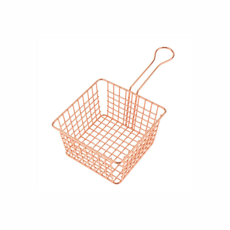 REGENT MINI CHIP FRYER SERVING BASKET COPPER PLATED (100X100X85MM)