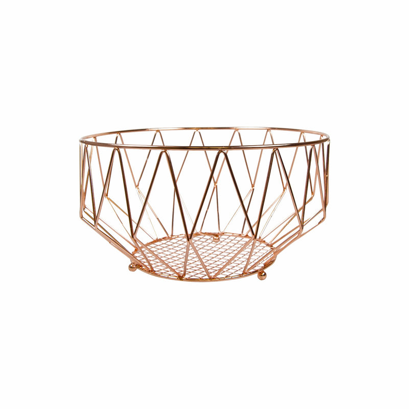 REGENT KITCHEN FRUIT BASKET CU.PLATED (260MM:DX140MM)