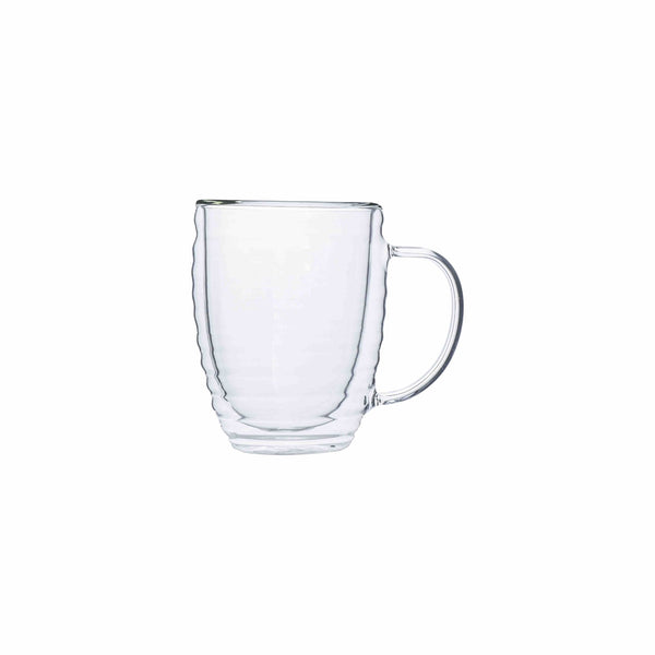 REGENT DOUBLE WALL WAVY GLASS WITH HANDLE BOROSILICATE (300ML)
