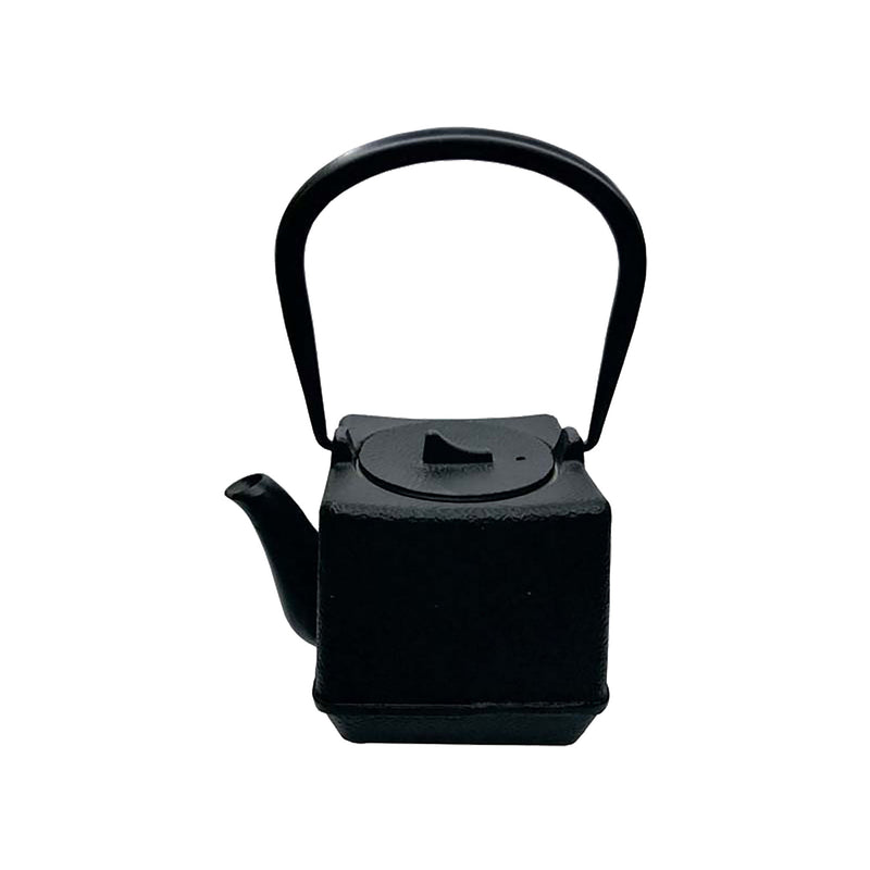 REGENT CAST IRON SQUARE CHINESE TEAPOT BLACK (900ML)