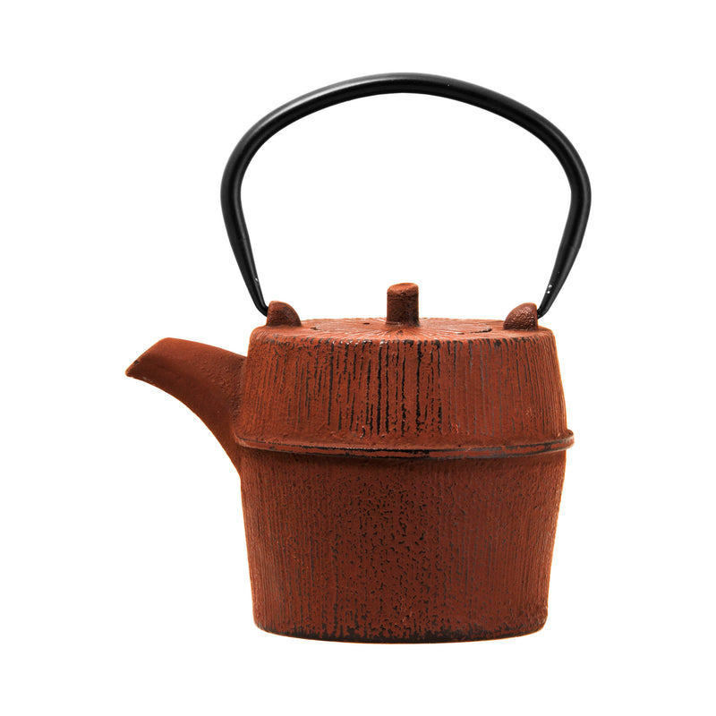 REGENT CAST IRON ROUND CHINESE TEA POT BROWN (1L)