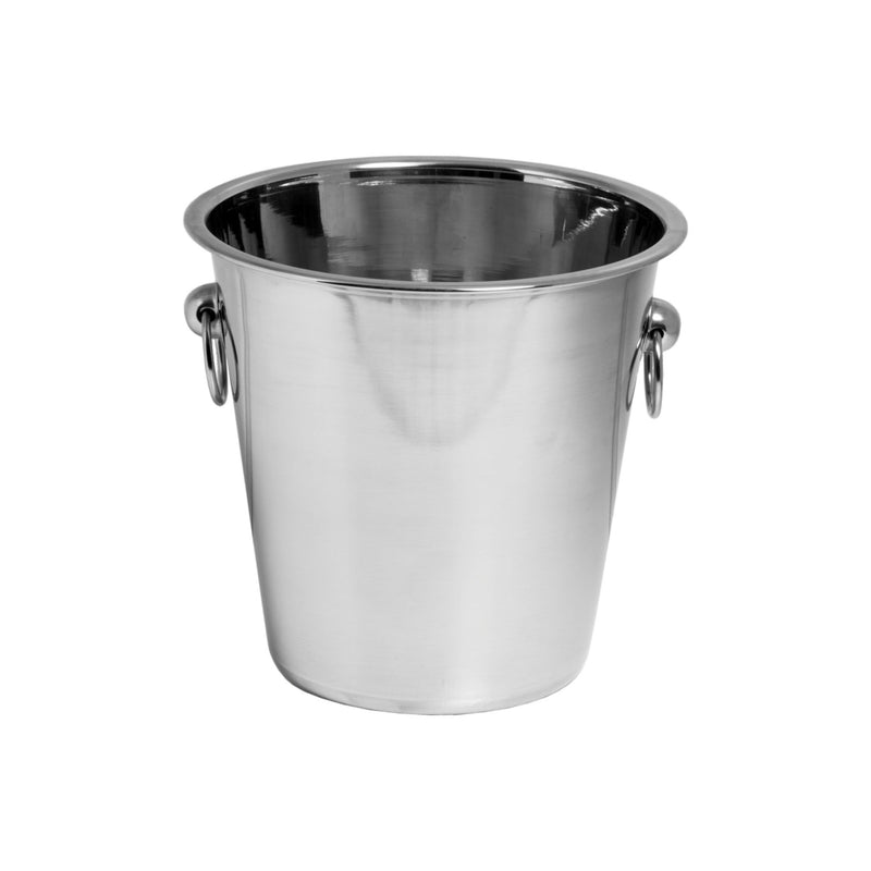 BAR BUTLER ICE BUCKET WITH RING HANDLES S/STEEL 4L (215MM:DX215MM:H)