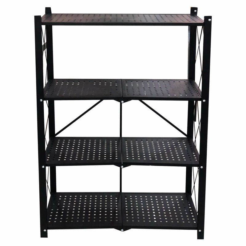 REGENT FOLDABLE RACK 3 SHELF S/STEEL BLACK (710X860MM)