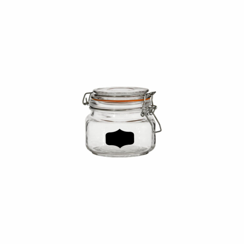 REGENT HERMETIC GLASS CANISTER WITH CLIP-SEAL & BLACKBOARD NOTES, 500ML
