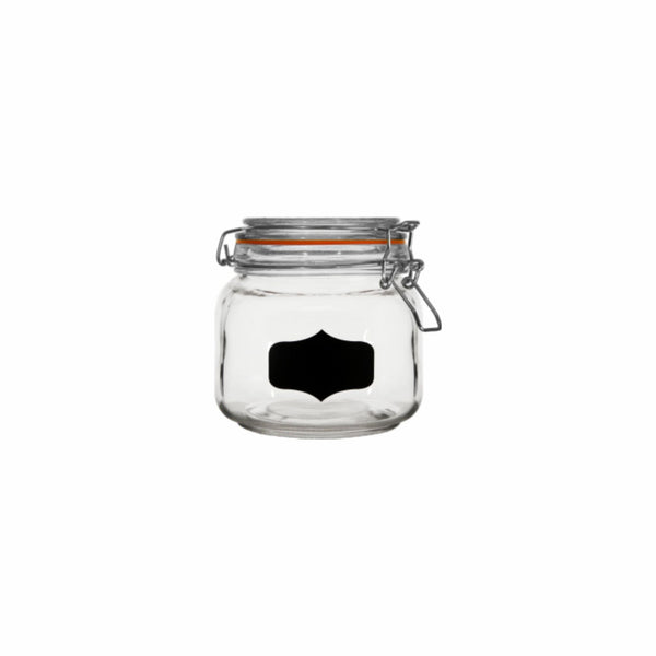 REGENT HERMETIC GLASS CANISTER WITH CLIP-SEAL & BLACKBOARD NOTES, 750ML