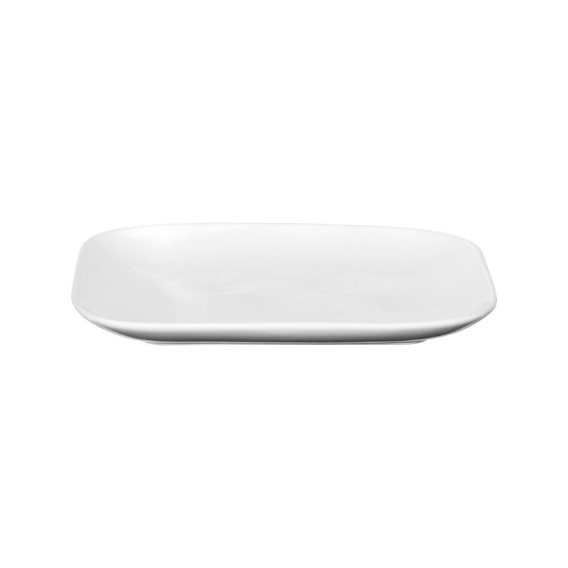 SERVEWARE CERAMIC SQUARE PLATE WITH ROUND EDGES WHITE, (280X280X25MM)