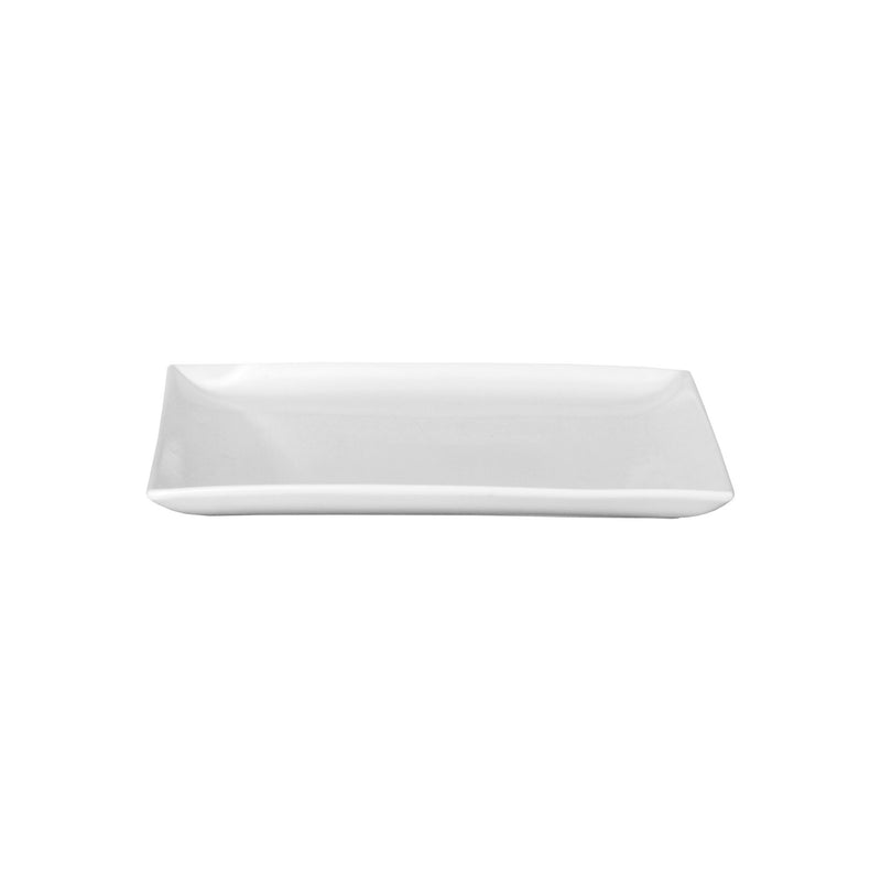 SERVEWARE CERAMIC SQUARE PLATE WHITE (250X250MM)