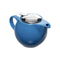 TEAPOT CERAMIC WITH ST STEEL COVER & INFUSER MATT BLUE, (500ML)