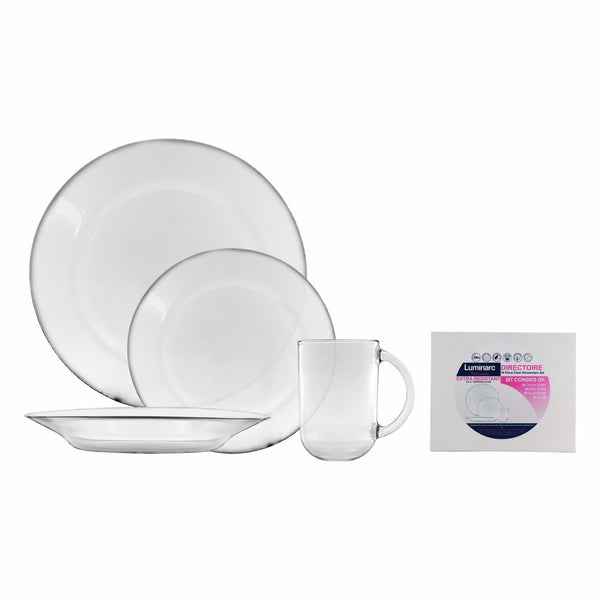 LUMINARC DIRECTOIRE DINNERWARE SET WITH MUGS, 16 PIECE