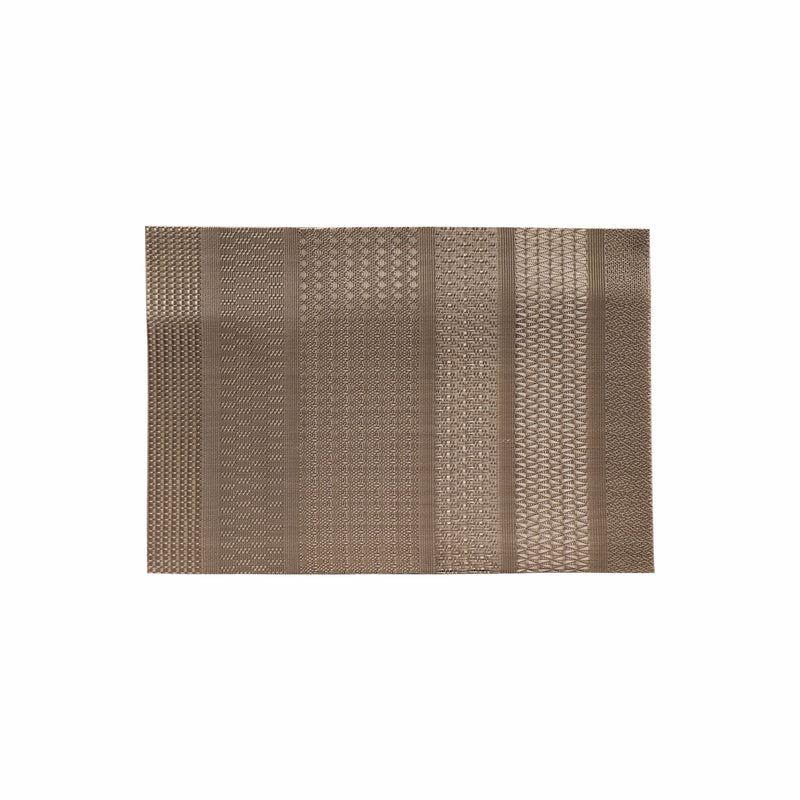 REGENT PLACEMAT WOVEN PVC PEWTER (450X300MM)